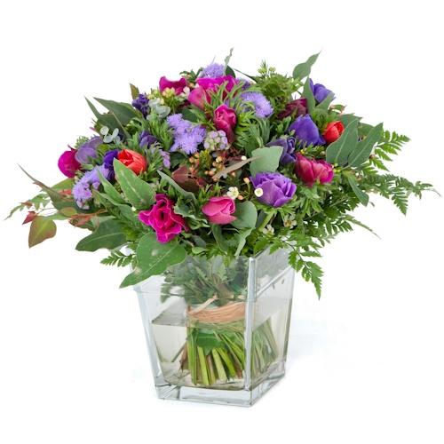 הזמנת פרחים סגולים