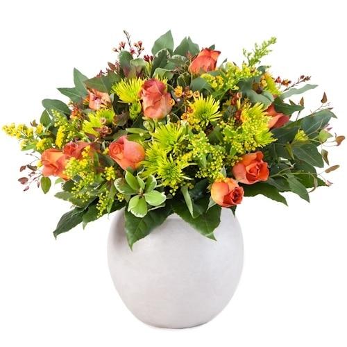 זר פרחים אביבי