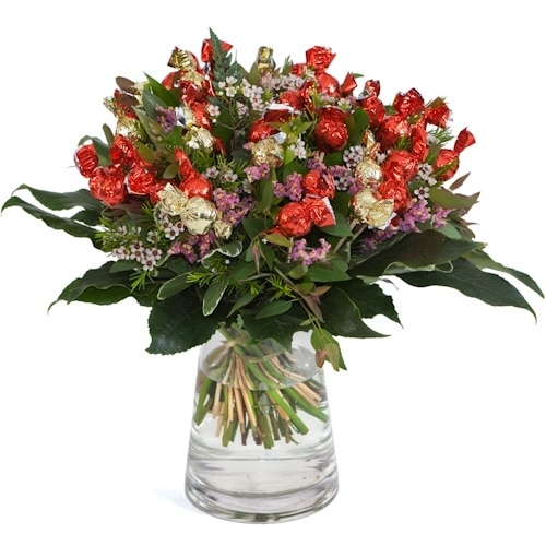 זר מתוק משולב עם פרחים