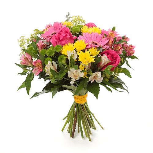 זר ורוד צהוב - משלוחי פרחים בראשן לציון
