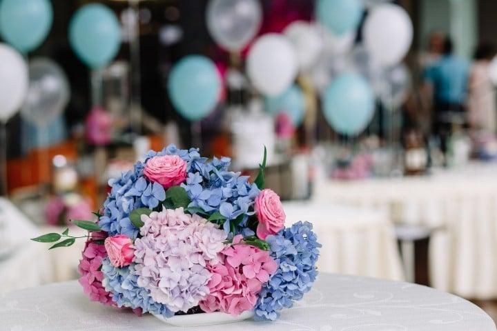 סידור פרחים ליום הולדת